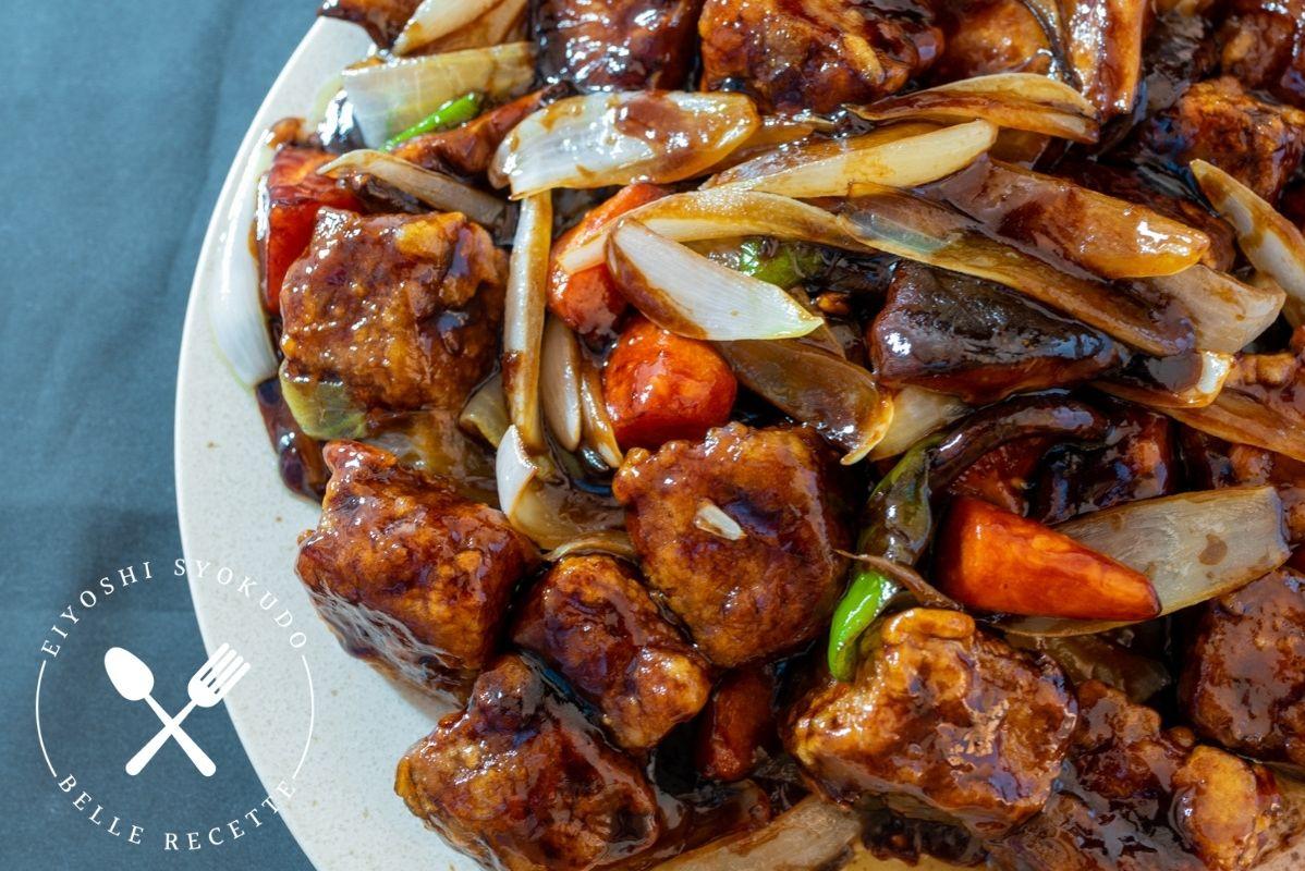 黒酢酢豚 本格中華