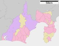 駿府城の位置(静岡県内)