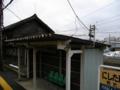 車窓から撮った西武生駅(当時)