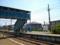 歴史ある鶴田駅の跨線橋