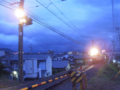 石手川公園駅から横河原行きを見送る