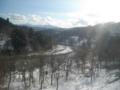 雪の中を蛇行する千曲川(横倉〜森宮野原)