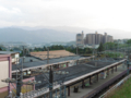 林間田園都市駅ホーム(南側眺望)