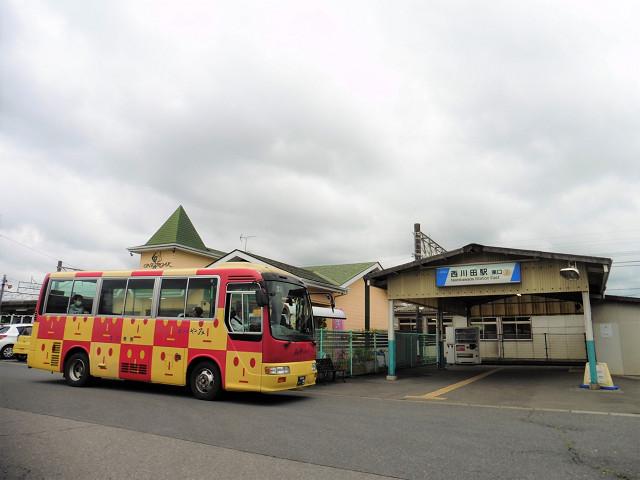 西川田駅外観