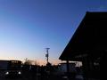 列車代行バスと鵡川駅