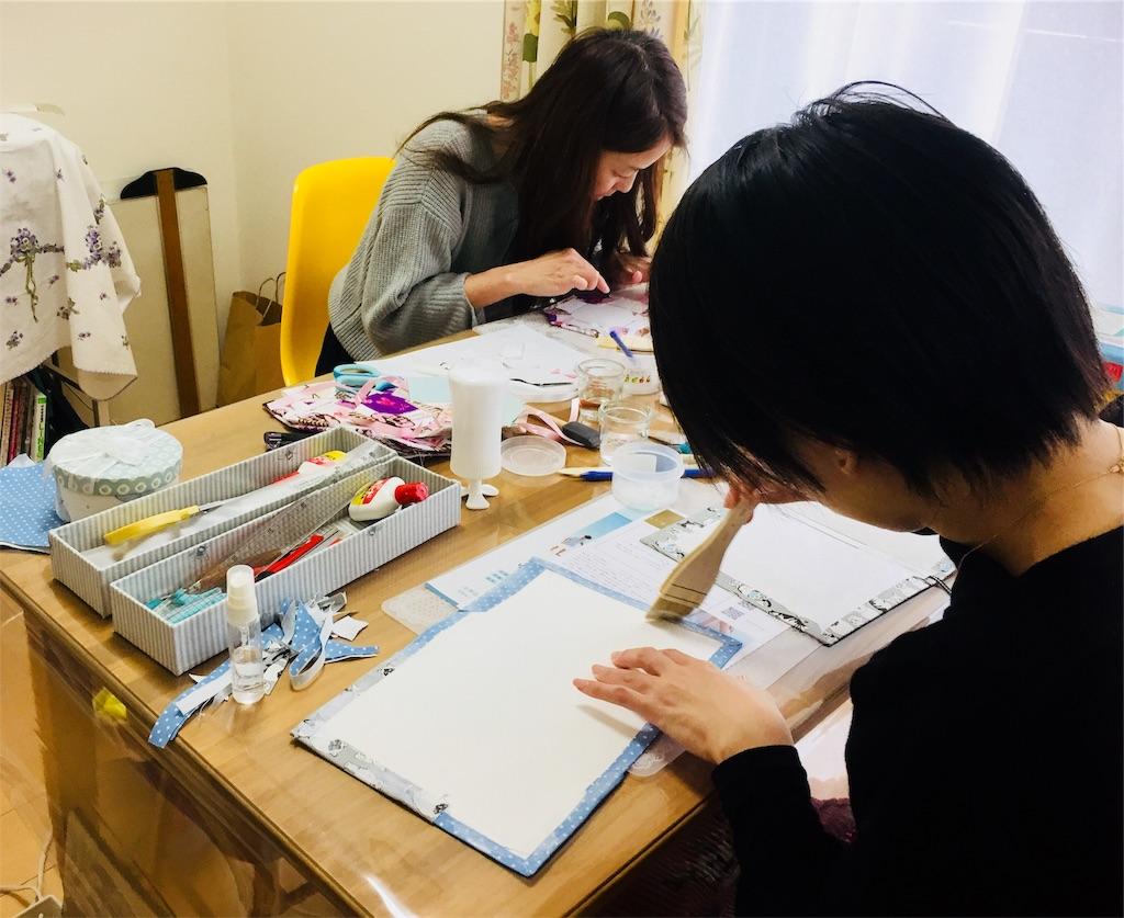 カルトナージュ レッスン風景 習い事 お稽古教室