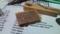 自作 Crunch Box の基板にパーツを半田付けした