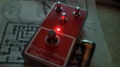 自作 Crunch Box のケースにスイッチなどを付け、LED の点灯を確認した