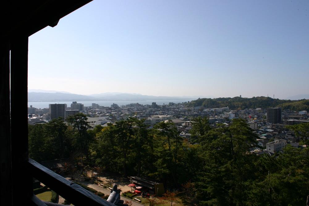 松江城からみる宍道湖