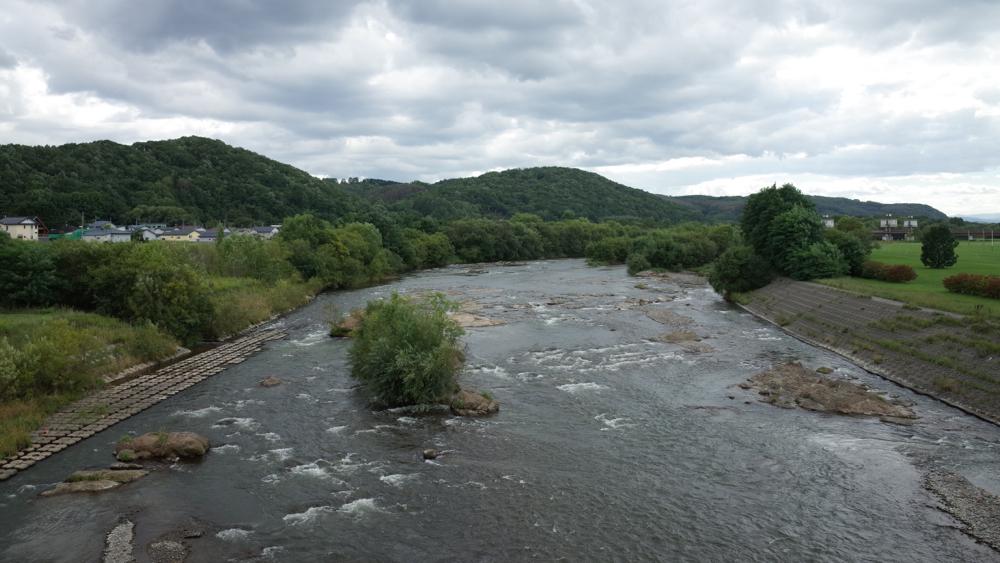 常呂川の青鷺 - 記憶の彼方へ