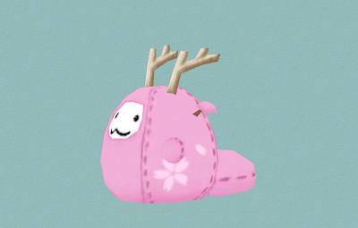 桜フォモスの着ぐるみ