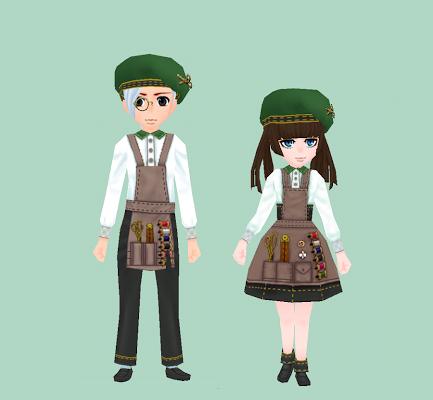 仕立屋の服・緑