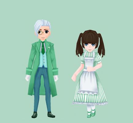 ルグデル風の服・緑