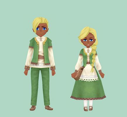 ククリアの服・緑