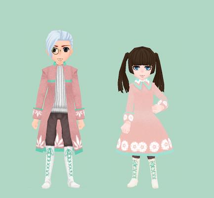 桜色のコート