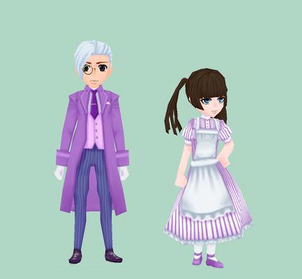 ルグデル風の服・淡紫