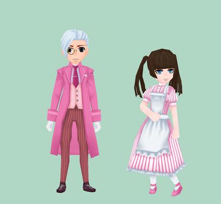ルグデル風の服・ピンク