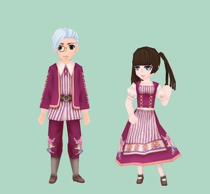 花模様の伝統衣装・ピンク