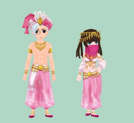 南国の衣装・ピンク