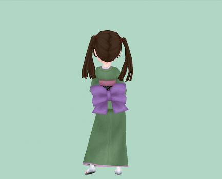 藤紫の腰結び
