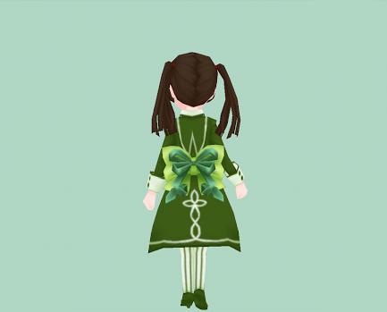 ダブル腰リボン・緑