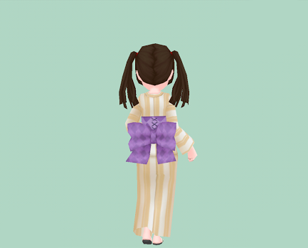 藤紫格子の腰結び