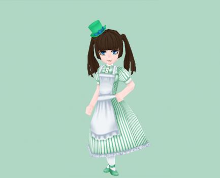 小さなシルクハット・緑