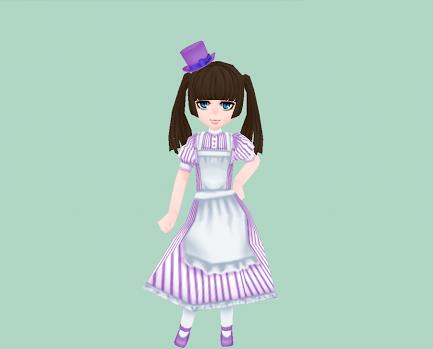 小さなシルクハット・紫