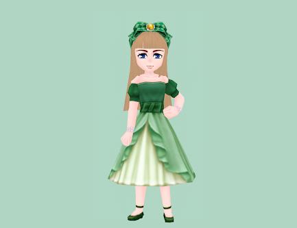 チェックリボン・緑