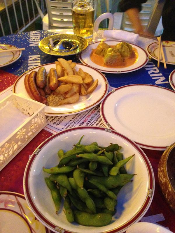 レストランキエフ ビアガーデン 料理