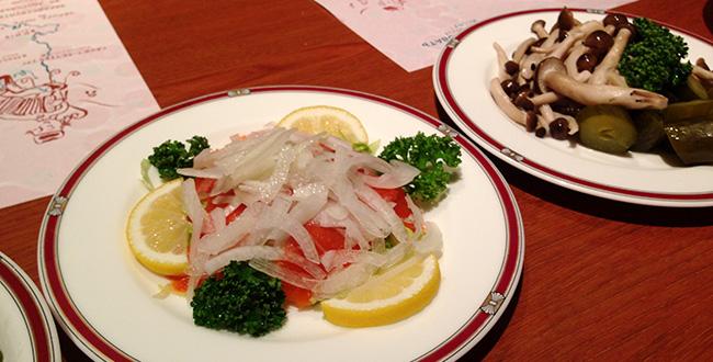 レストランキエフ ビアガーデン 料理2