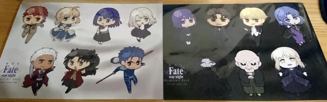 劇場版 Fate /stay night Heaven's Feel グッズ シール二種