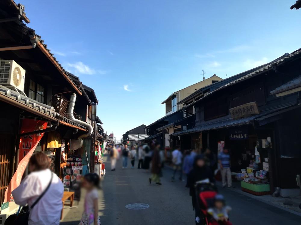 犬山城付近の観光街