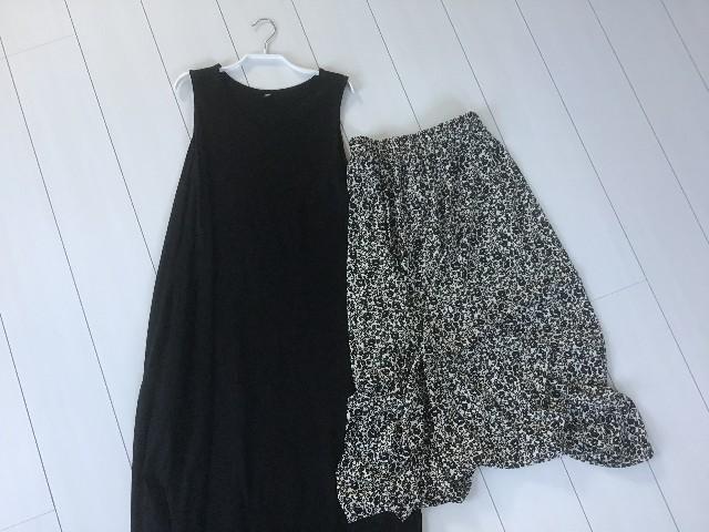 ユニクロのワンピースとスカート