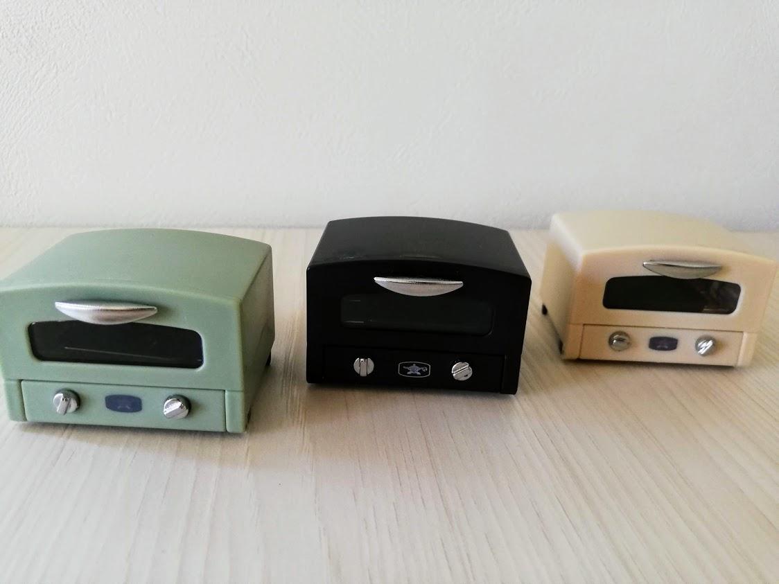 トースターのミニチュア3色