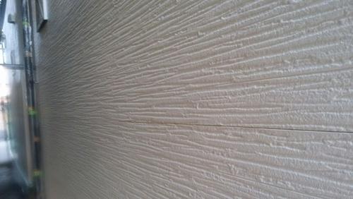 外壁を塗り終えたところ