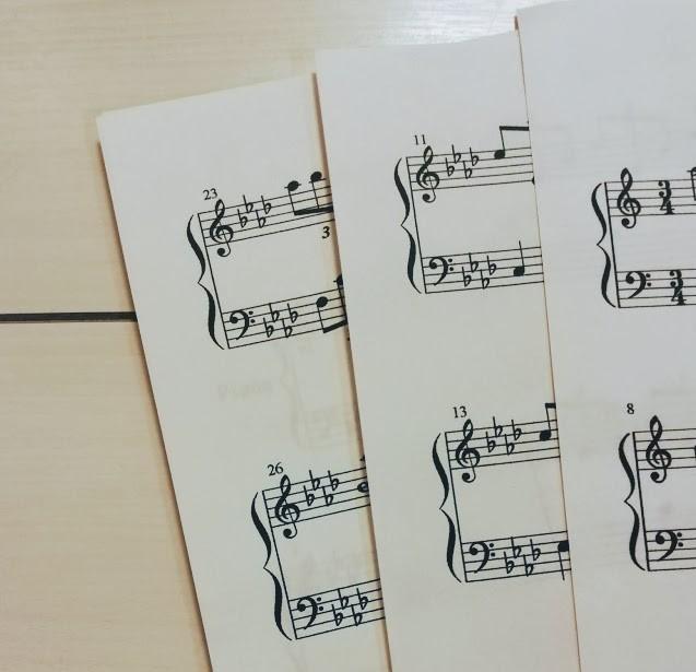 プリントアウトした楽譜