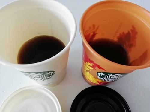 完成したドリップコーヒー