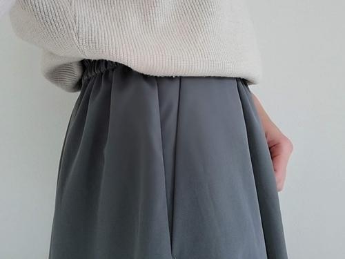 マットタフタギャザースカートのポケット部分
