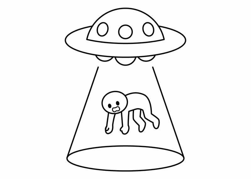 UFOにさらわれる