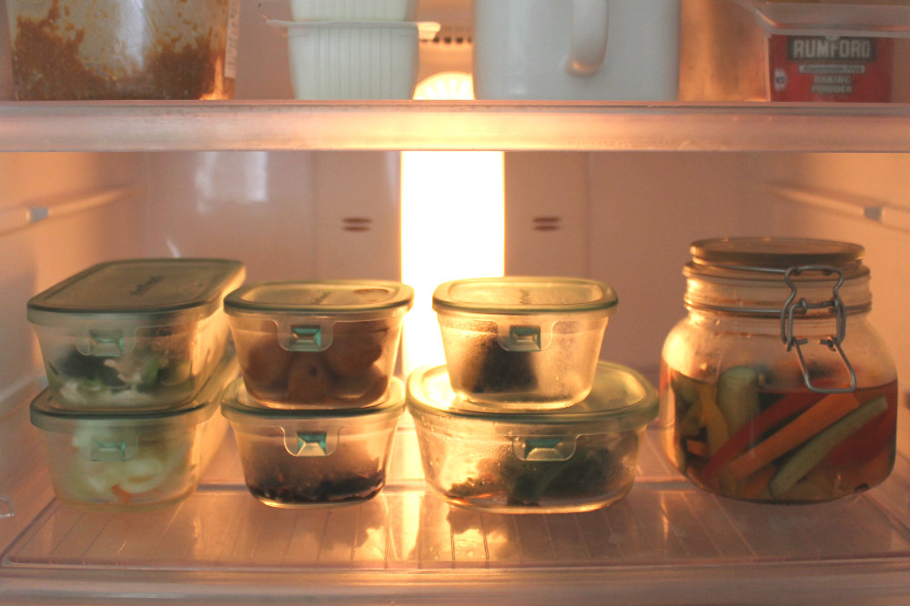 冷蔵庫のパック&レンジ