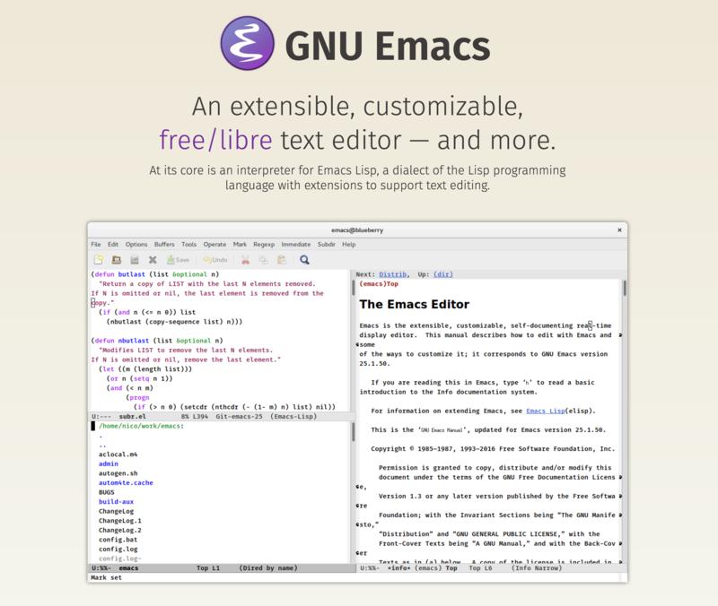 Emacs公式サイト