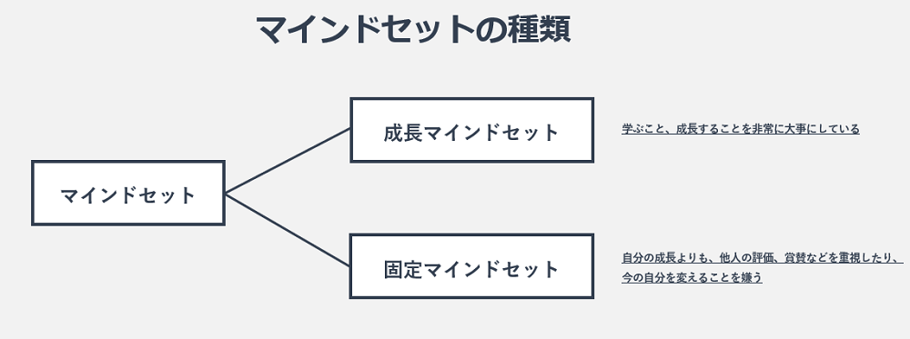 マインドセットの種類の図