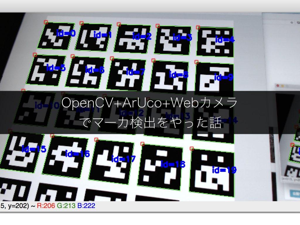 OpenCV+ArUco+Webカメラでマーカ検出をやった話 - EnsekiTT Blog