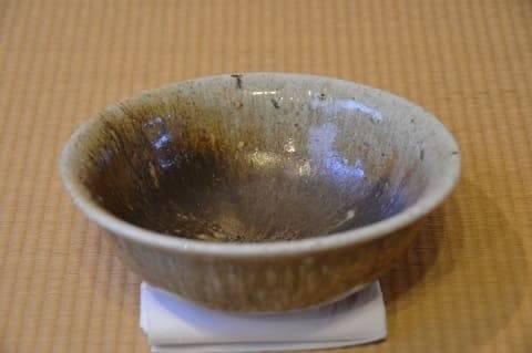 自然釉の鉢
