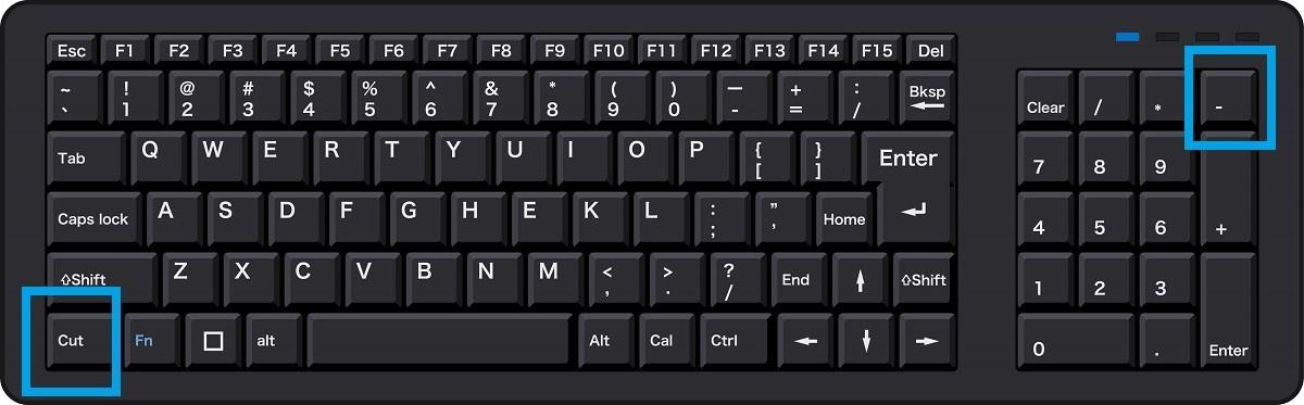 パソコンの画面サイズの拡大と、すぐに戻す方法【Windows10】、キーボード