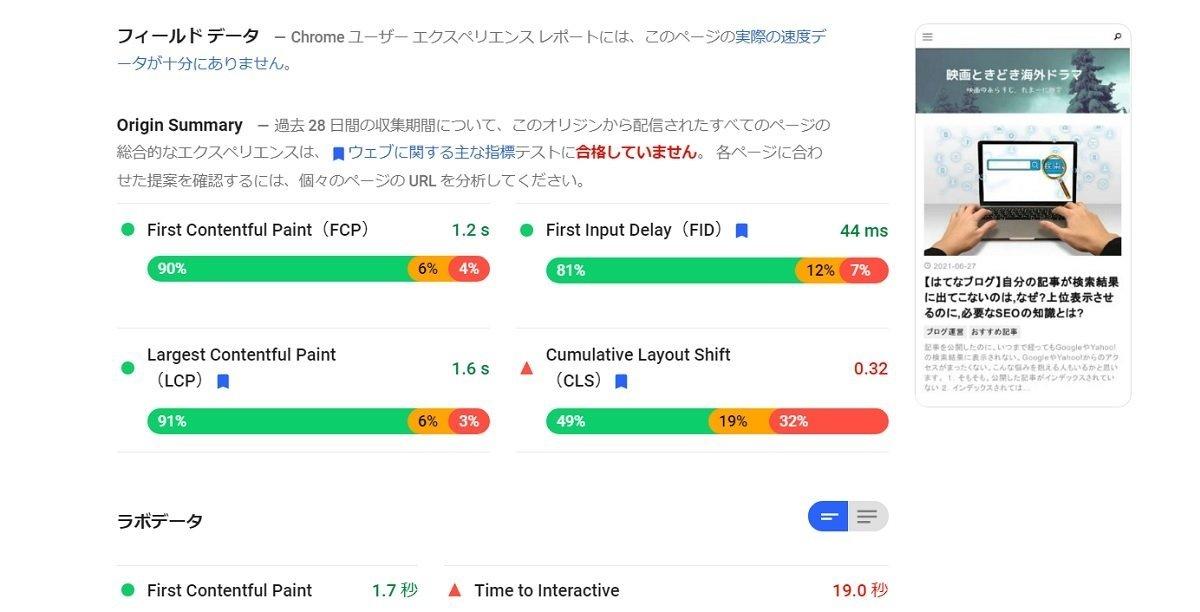 【コアウェブバイタル】はてなブログで出来る対策は?表示速度、LCP、FID、CLS