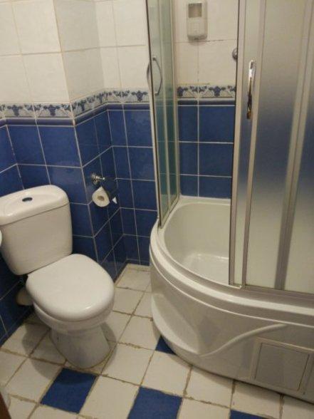 ウラジオストク、ホテル ジェムチャズィナ バスルーム