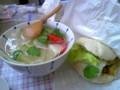 まんまるまんとう 饅頭サンド(胚芽・角煮)と生野菜のスープ(フォ