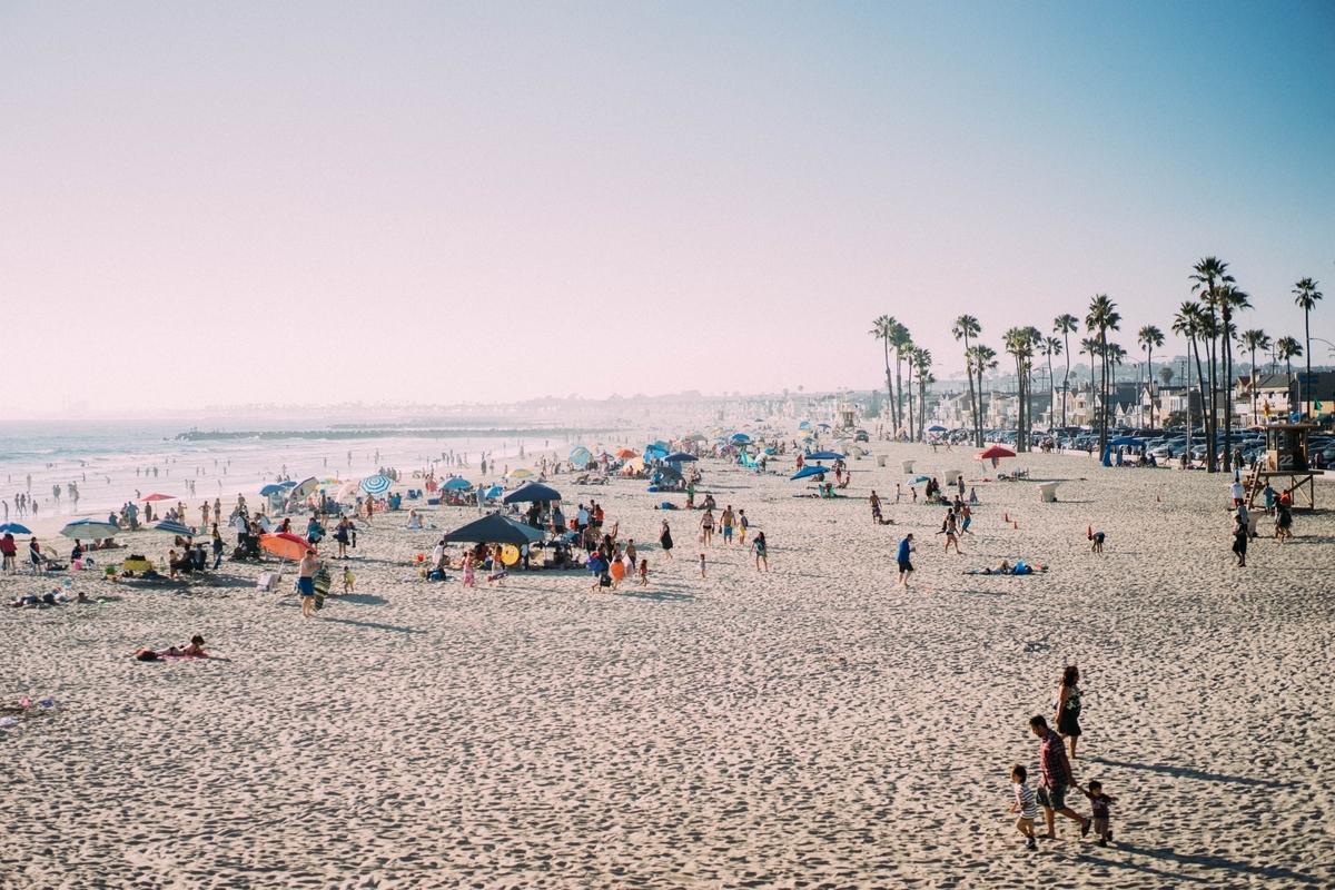 People enjoying Newport Beach